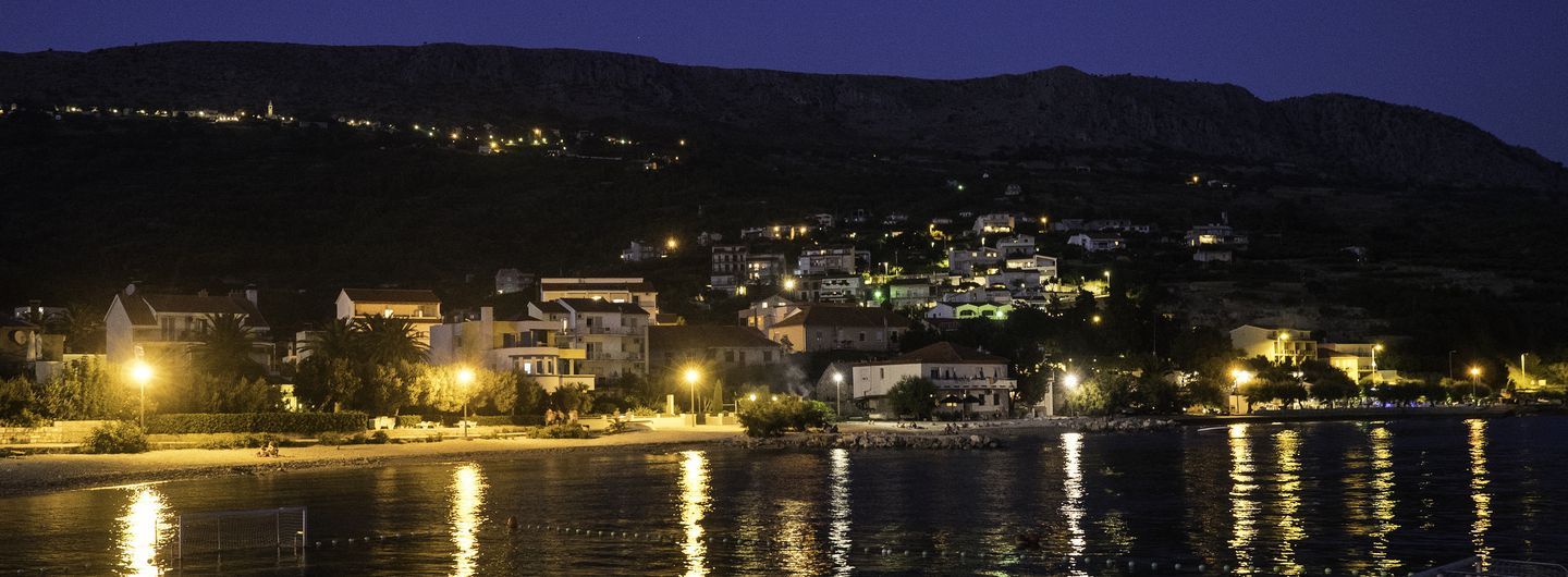 Podstrana At Night Hotel Eden Split Croatia